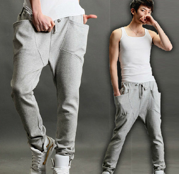 Stylish Mens Casual Sporty Hip Hop Dance Harem Baggy Sport Sweat Pants Trousers