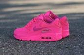 shoes,air max,air max 90 2007,sneakerhead,nike air max 90,hyper pink,hot pink. nike airmax 90 hyperfuse