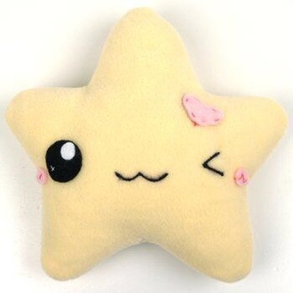 home accessory cute plushie kawaii pastel instagram tumblr lovely kawaii plushie kawaii accessory stars yellow