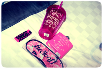 pink bag alcohol off one thirsty bitch love bottle mug go