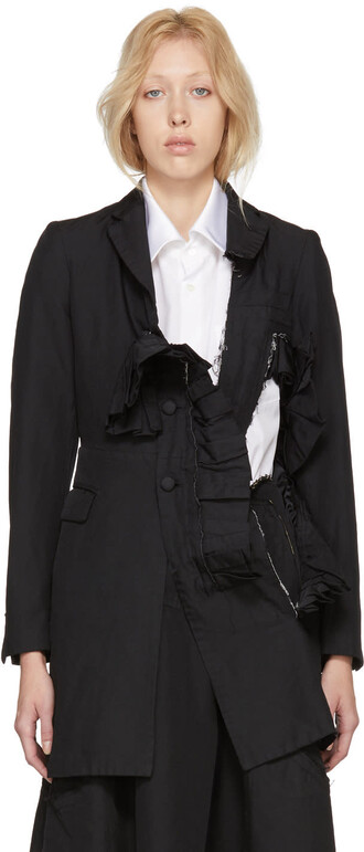 overcoat black coat