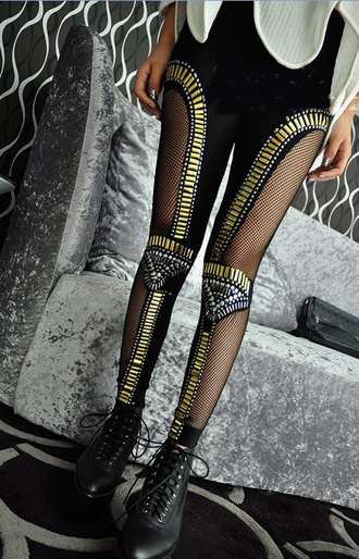 pants bead-embellished bling geometric leggings gossip girl