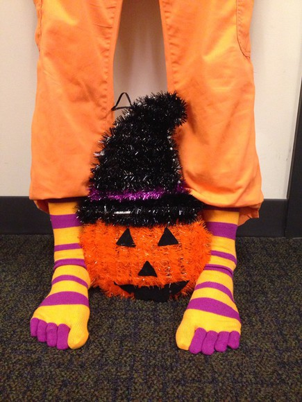stripes socks fall socks halloween colors toe socks cool socks