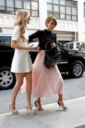 skirt,maxi skirt,pink,light pink