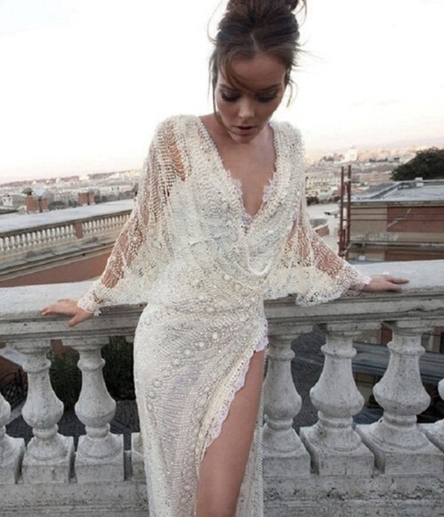 dress pearl lace pretty white cream gown prom tumblr long prom dress long prom dresses prom dresses lace dress tumblr girl pearls