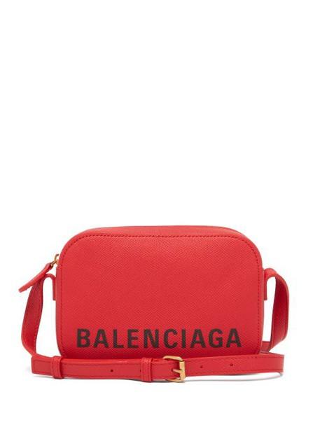 Balenciaga - Ville Xs Leather Cross Body Bag - Womens - Red