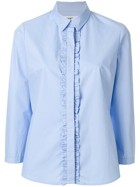 ESSENTIEL ANTWERP shirt women cotton blue top
