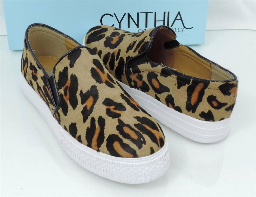 Women's shoes cynthia rowley hurry slip on loafer shoes in leopard calf hair