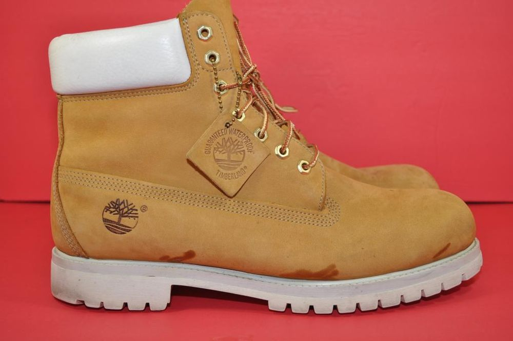 Timberland Mens Scrub 6 inch Boots Wheat White Used Size US 12 | eBay