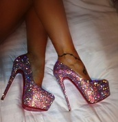shoes,hells,high heels,stilettos,pumps,pink,glitter,holo,holographic,cute,sparkle,newcrystalwavehighheels,newcrystalwave,newcrystalwavebling