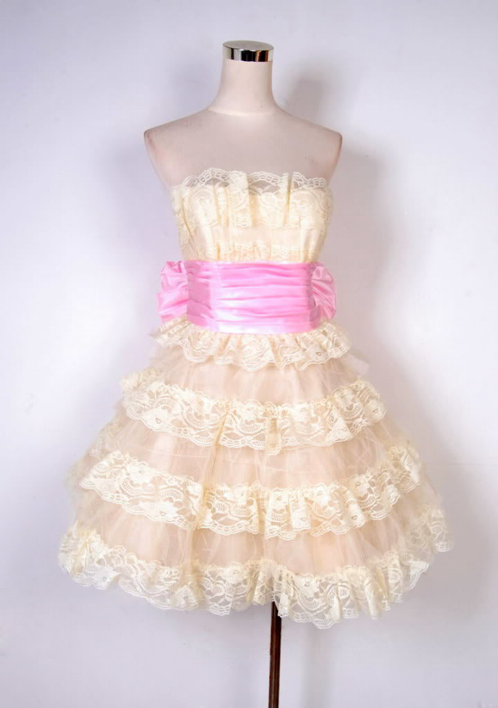 Johnson Evening Mini Tea Party Dress Sz 8 Cream | eBay