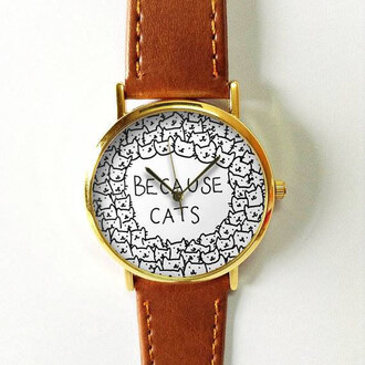 jewels watch handmade style fashion vintage etsy freeforme because cats cats animal pet summer spring gift ideas new