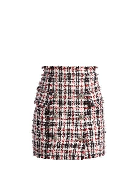 Balmain skirt mini skirt mini embellished white