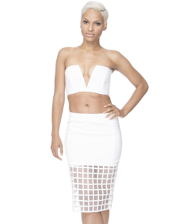 OFF THE GRID Pencil Skirt in White – FLYJANE