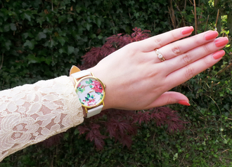 jewels watch floral flowers elegant stylish