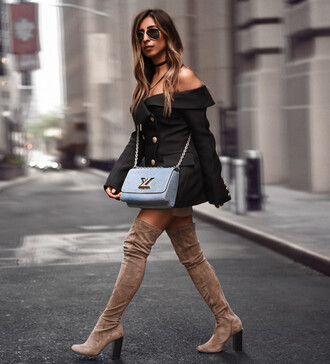 shoes nastygal boots otk over the knee brown suede taupe fallf ashion style trendy