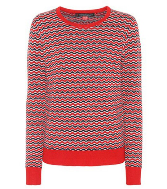 Perfect Moment sweater wool red