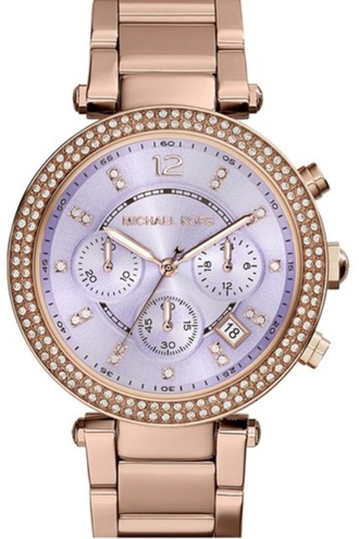 jewels rose gold light purple mk watch michael kors watch watch