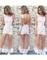 Lace floral flower transparent mesh long maxi white dress