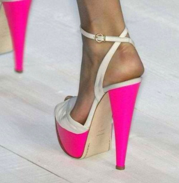 shoes pink nude high heels