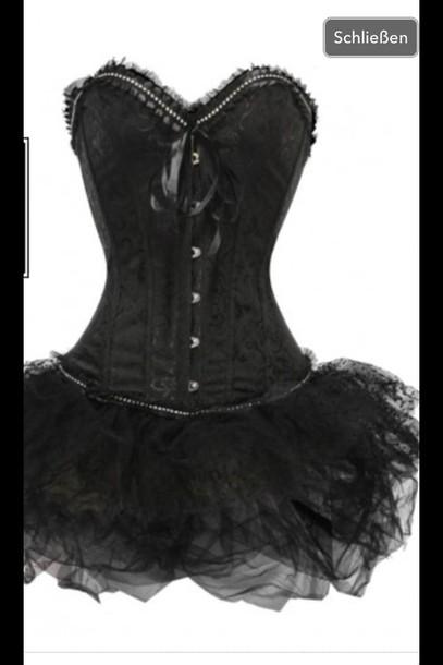 Underwear Black Dress Black Corsage Black Corsage Skirt Tulle