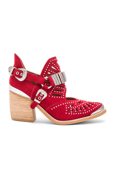 Jeffrey Campbell Calhoun Booties in red
