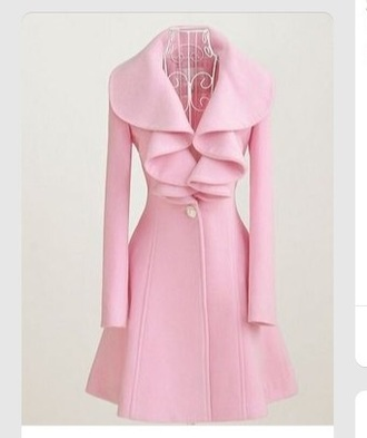 coat pink coat pea coat jacket style fashion paris blush pink pastel sweet