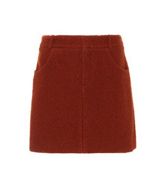 Chloe miniskirt wool red skirt