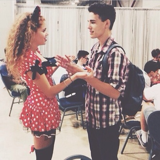 dress mahogany lox red dress dotted bows black white red