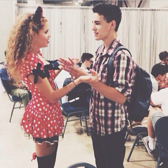 dress dotted mahogany lox red dress bows black white red