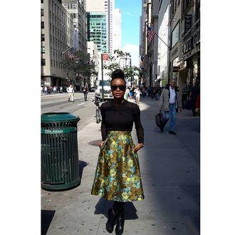 skirt midi skirt floral skirt jacquard jacquard skirt floral midi skirt