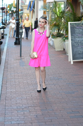 dress,shift dress,pink,neon,casual,wear,clothes,mini,day,cute,pinterest