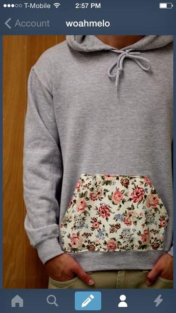 jacket floral hoodie