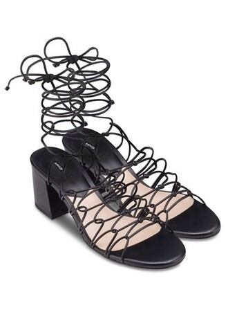 shoes heels cord cord heels sandals low heel black cute knot heels knot sandals