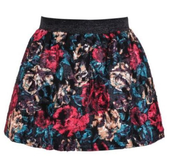 floral mini skirt high waist mini skirt mini skirt flare floral skirt www.ustrendy.com