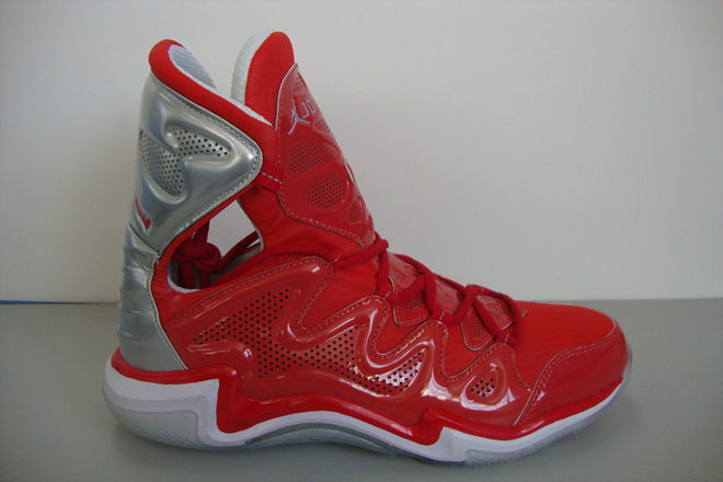 Nike Mens Jordan 29 Color Matching Fire Red And Silver Sports Sneakers