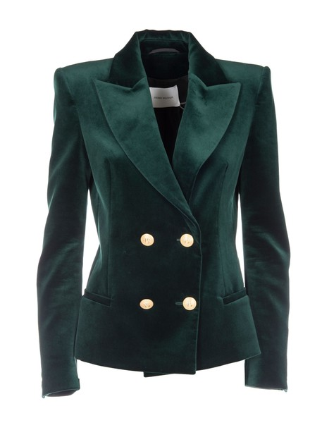 Pierre Balmain blazer double breasted green jacket