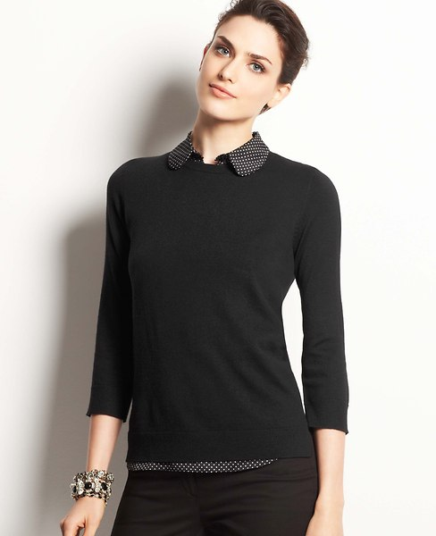 Dot Layered Sweater | Ann Taylor