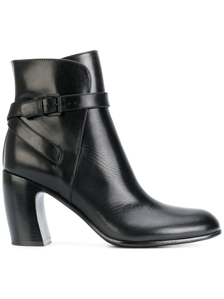 ANN DEMEULEMEESTER women ankle boots leather black shoes