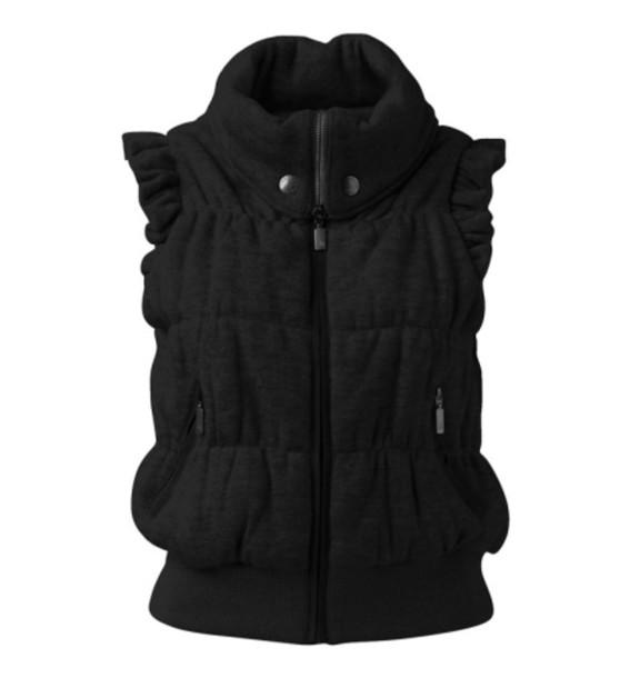 jacket vest cotton jersey draped dress