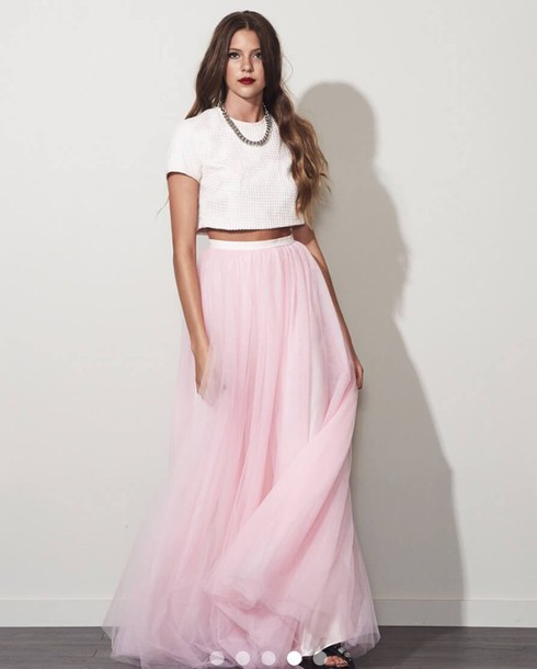 Dress two piece tulle skirt tulle dress tulle skirt for How to make a long tulle skirt for wedding dress