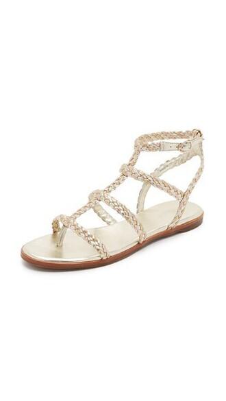 metallic sandals flat sandals shoes