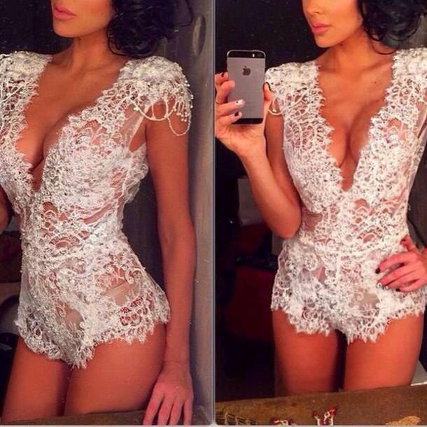 Underwear Sheer Bodysuit Dress