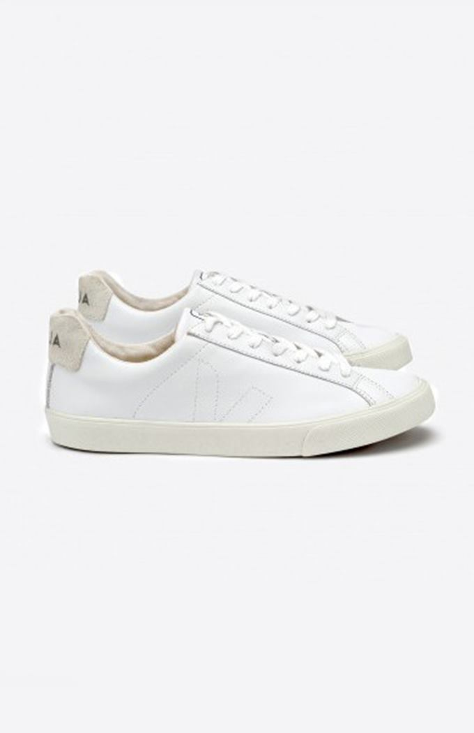 Esplar Low Leather Sneaker - Extra White