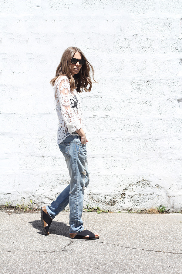 fashion and style jeans jewels sunglasses blouse shirt