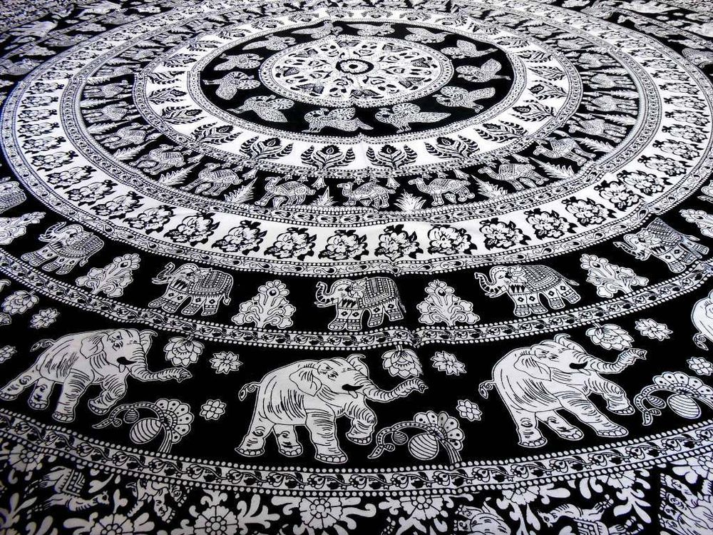 Elephant Tapestry Wall Hanging mandala hippie tapestry wall hanging queen bedspread bohemian