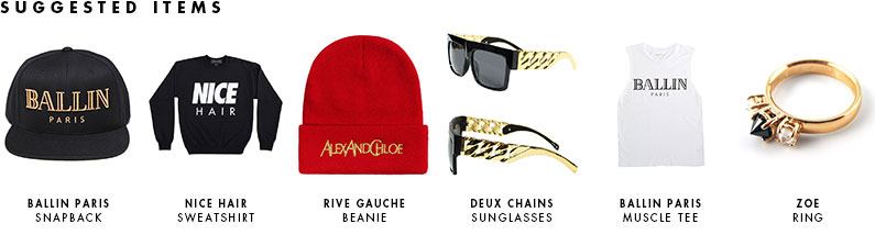 ALEX AND CHLOE / BALLIN IN PARIS SWEATSHIRT - FUCSHIA W/BLACK-FOIL : ALEX & CHLOE - Brian Lichtenberg, Homies, Wildfox Couture, UNIF, Homies South Central at ALEX & CHLOE