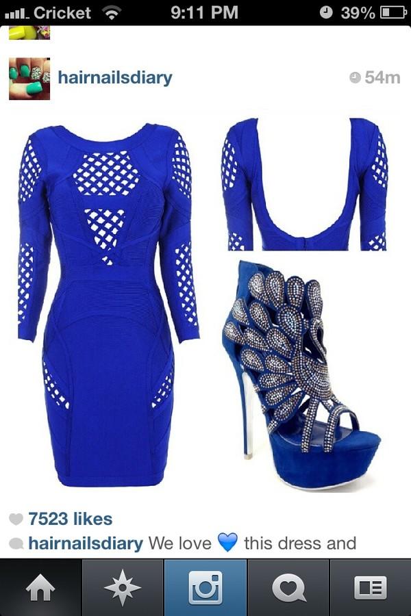 dress blue shoes