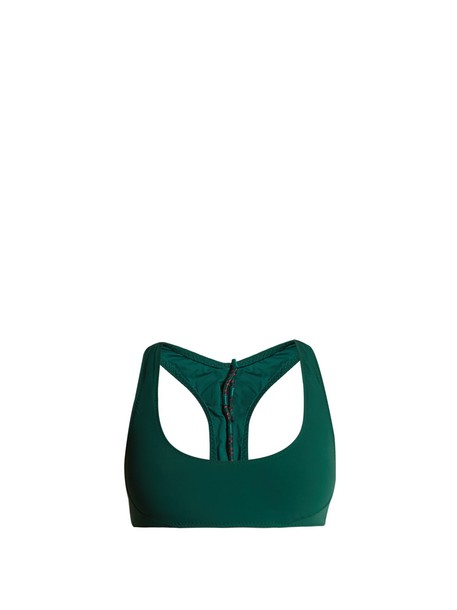 Stella McCartney bikini bikini top back lace green swimwear