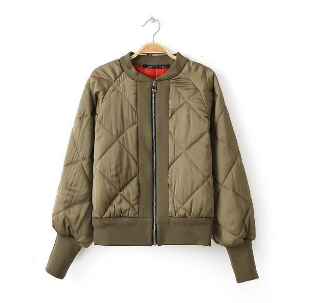 Lieutenant quilted satin bomber